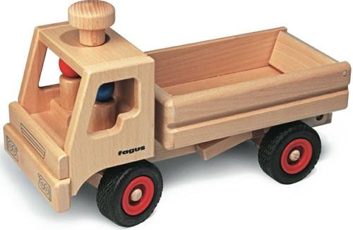 Fagus  houten speelvoertuig vrachtauto met open bak
