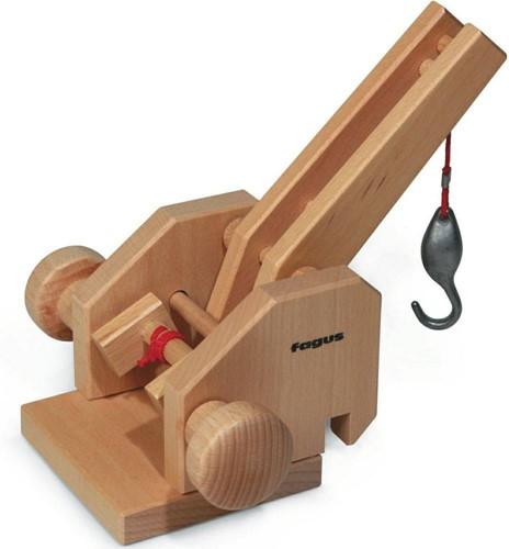 Fagus  houten speelvoertuig kraandeel