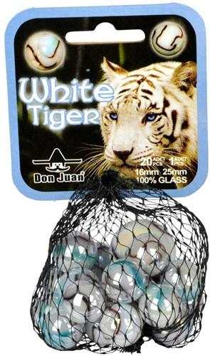 Don Juan  buitenspeelgoed Knikkers White tiger 16 mm
