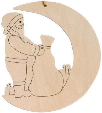 Beleduc  houten knutselspullen Kersthanger kerstman