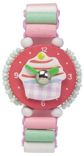 Planet Happy  sieraden Houten horloge Cupcake