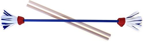 Acrobat - Set Flower Stick BLUE shaft, red/white/blue flower + hand sticks