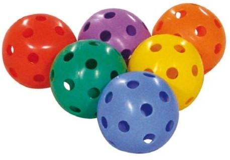 Megaform Set of 6 Floor Hockey Balls 6 Colors