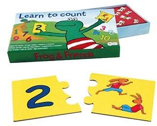 Planet Happy  legpuzzel Kikker & vriendjes: Ik leer te -10x 2 stukjes