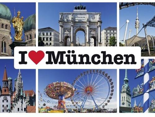 Schmidt I love Munchen, 1000 stukjes
