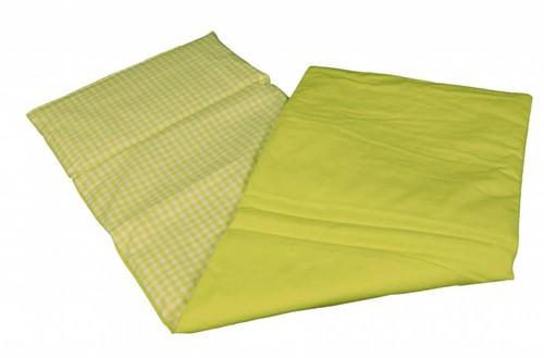 Accessoires poupées couverture lime vert quadrillés