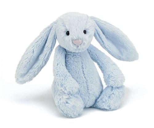 Jellycat peluche Bashful Bleu Lapin Grand 51cm