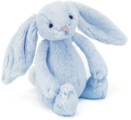 Jellycat Peluche Bashful Bleu Lapin Rattle 18cm