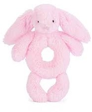 Jellycat - peluche Bashful Pink Lapin Grabber