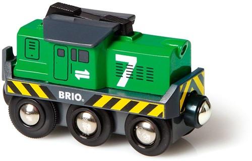 BRIO Locomotive de fret à pile - 33214