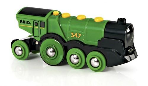 BRIO Locomotive verte puissante à piles - 33593