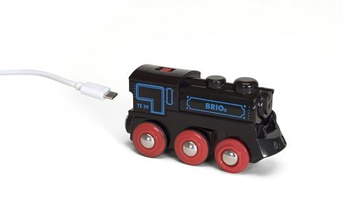 BRIO Locomotive rechargeable avec mini câble - 33599