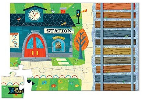 Crocodile Creek  legpuzzel Puzzle & Play/Train Station - 24 stukjes