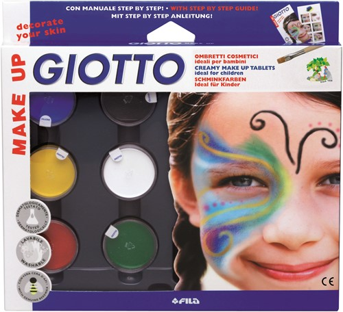 Giotto Make-up set  with brush and cosmetic sponge