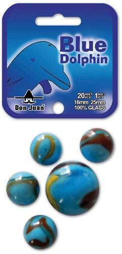 Don juan knikkers Dolfijn 20x 16mm  + 1x 25mm