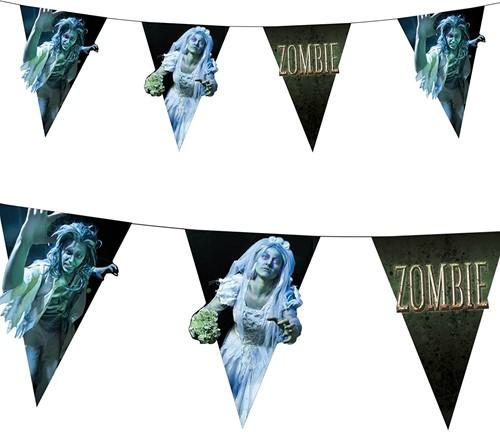 Planet Happy  decoratie Papieren vlaggenlijn zombie du