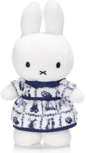 """Miffy with Delft Blue dress - 24 cm - 9,5"""""""""""