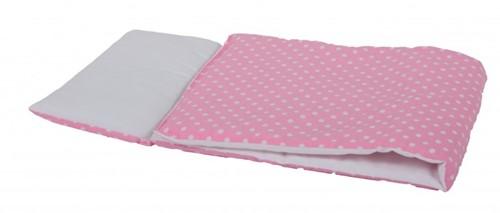 Accessoires poupées couverture rose à pois