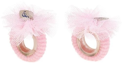 Souza Haar elastiek Fabienne, met kleine bloemen, l.roze (2 stuks/kaartje, 6 kaartjes)