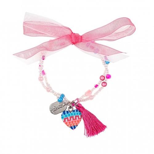 Souza - Sieraden - Bracelet Freda, with heart, multicolour