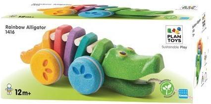Plan Toys Dancing Alligator Rainbow