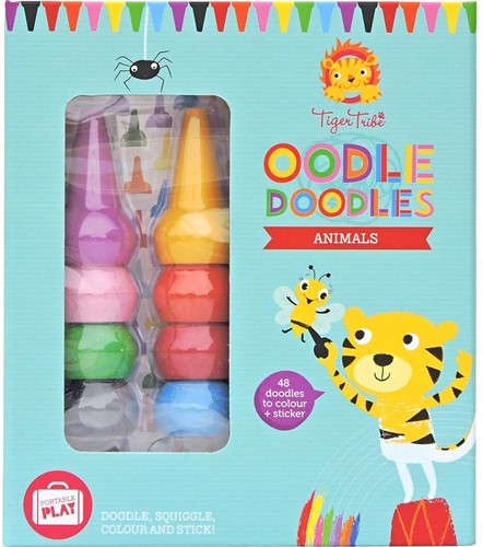 Tiger Tribe Oodle Doodle Crayon Sets/Animals