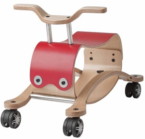 Wishbonebike trotteur en bois Flip Rouge