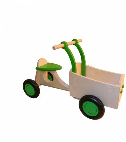 Triporteur en bois lime vert