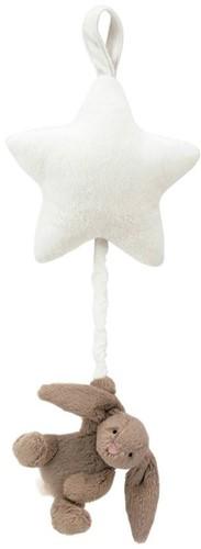 Jellycat  Bashful Doudou avec musique Beige Lapin Star Music - 28 cm