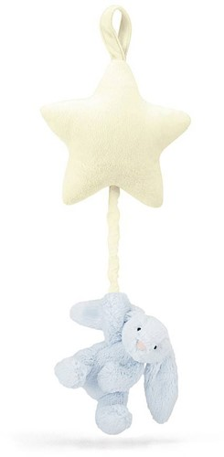 Jellycat  Bashful doudou avec musique Bleu Lapin Star Musicalpull - 28 cm