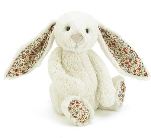 Jellycat  Bashful Blossom Lapin Cream Petit - 18 cm