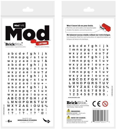 Planet Happy  BrickStix Mod stickers: letters