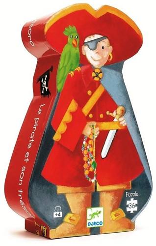 Djeco Le pirate et son trésor - 36 pcs