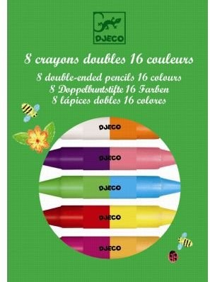 Djeco 8 crayons doubles côtés
