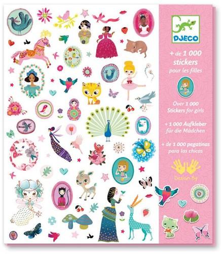 Djeco 1000 stickers pour les filles