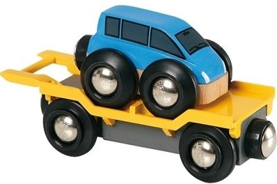 BRIO Wagon transport de voiture avec rampe - 33577