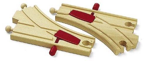 BRIO Aiguillages mécaniques - 144 mm - 33344