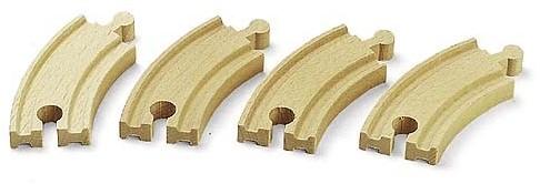 BRIO Petits rails courbes - 90 mm - 33337