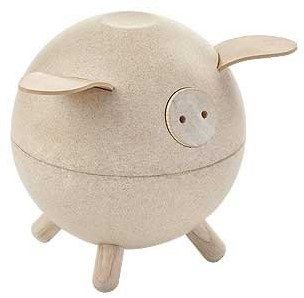 Plan Toys Piggy Bank - White