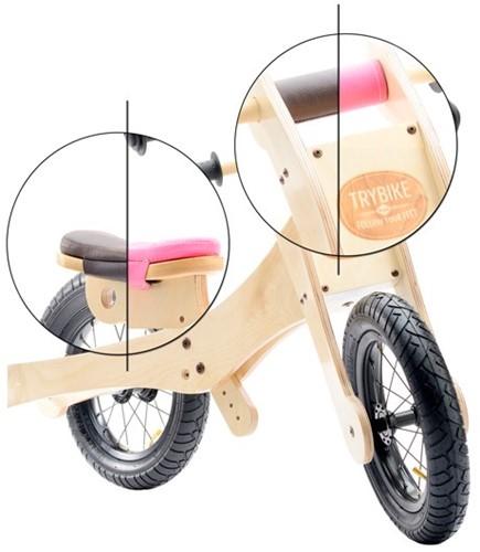 Trybike accessoires - Selle et protection pour menton marron