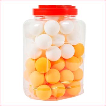 Megaform Bucket with 60 Table Tennis Balls
