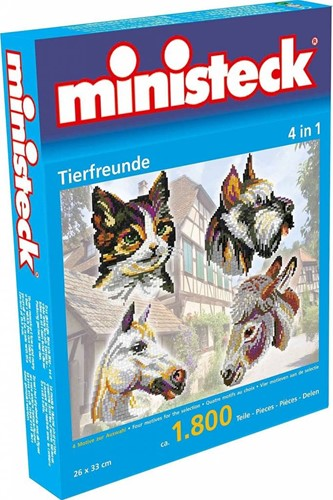 Ministeck - Amis animaux 4-in-1 1800 pcs