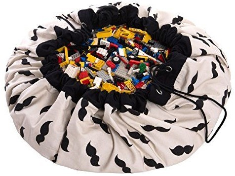 play&go - sac de rangement Mr. Moustache design